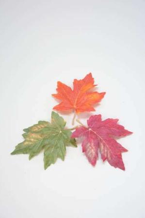 3 efterårsblade til dekoration - Kunstige efterårsblade - Dekorationsblade