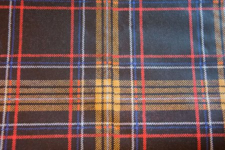 Brun skotskternet papirbordløber