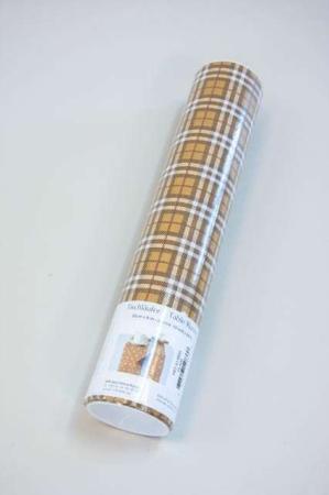 Billig papir bordløber - engangs bordløber gul ternet