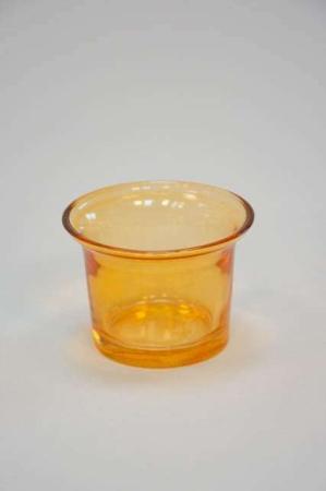 Små fyrfadsstager i farvet glas - orange