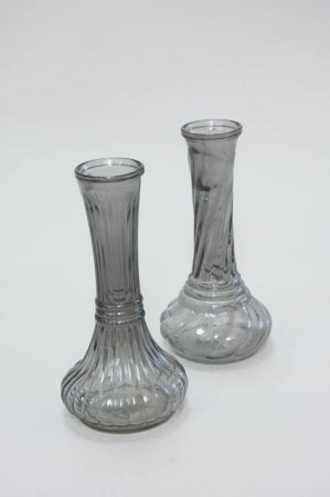 Vase i glas - Vase med smal hals - Vase med mønster