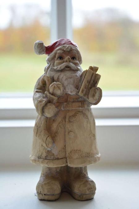 Julemand med juletræ. Julemand i træ. Nostalgisk nissemand. Julemand 2019. Julepynt 2019