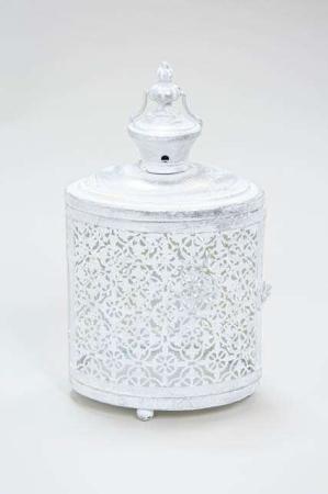 Hvid romantisk lanterne
