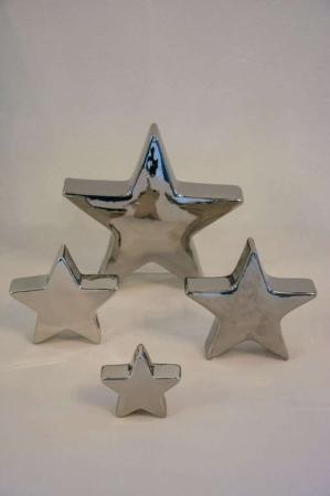Sølvstjerne til sølvbryllup. Dekostjerne i sølv. Nips i sølv. Sølvtema brugskunst. Stjerne i sølv til sølvbryllup