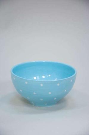 Blå salatskål i keramik
