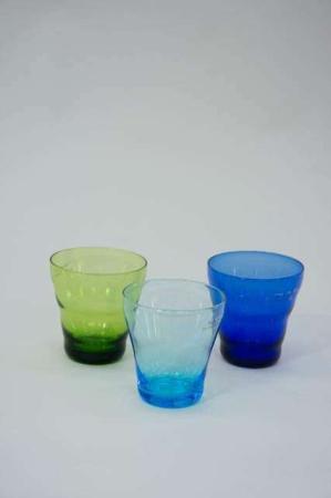 Farvede vandglas