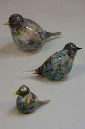 Glasfigurer - glasfugle - harlekin