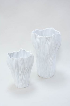 Gulvvase stor - Gulvvase i hvid