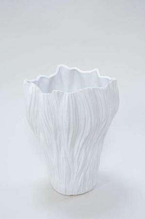 Hvid gulvvase - Stor gulvvase i keramik