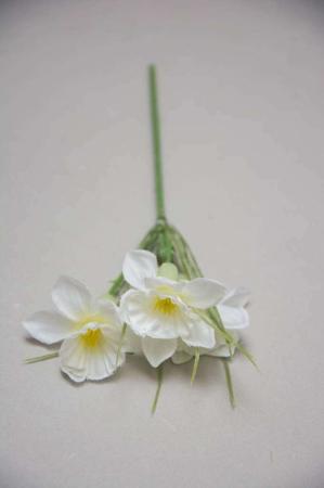 Kunstige blomster - hvid påskelilje