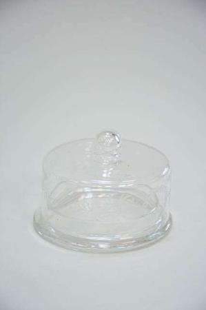 Glasklokke med bund af glas