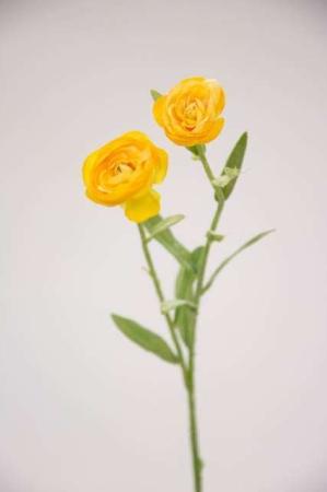 Kunstig gul ranunkel - Afskårne blomster - Blomster til buketter