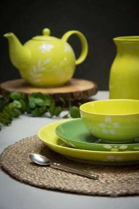 Lime grønne tallerkener