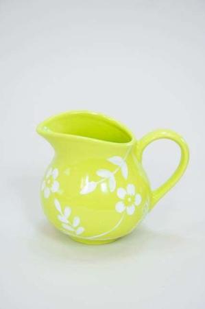 Limegrøn mælkekande af keramik