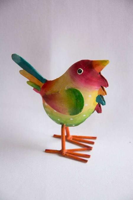 Multifarvet fugl