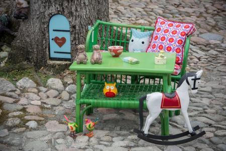 Bord og bænk til børn