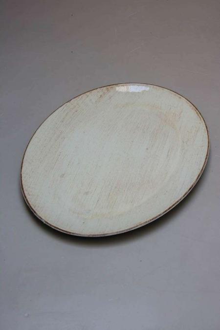 Oval plastik fad med anik look