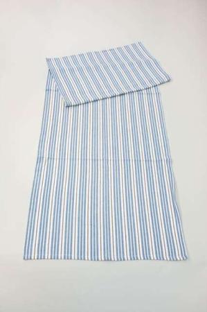 Blå stribet bordløber