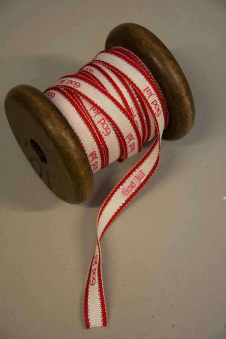 Julebånd til adventskranse og julegaver. Dekobånd til juledekorationer. Bindebånd til jul.