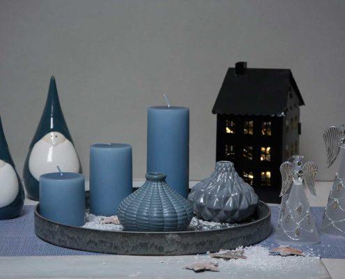 Inspiration til jul - Blå jule dekoration