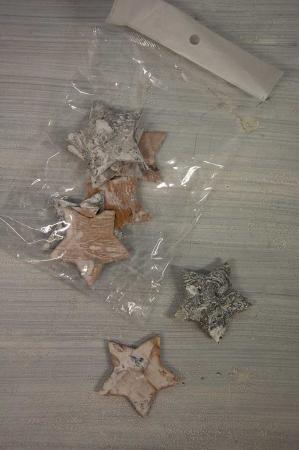 Julepynt - Stjerner af bark til dekorationer
