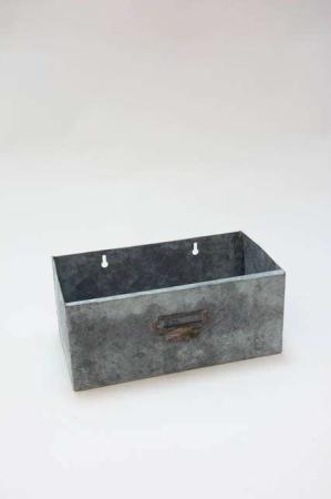 Metalkasse opbevaring - Urtepotteskjuler til vøg - Urtepotte i zink