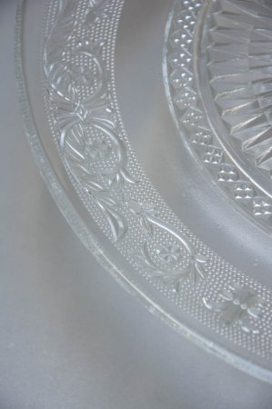 Glas kageopsats med mønster