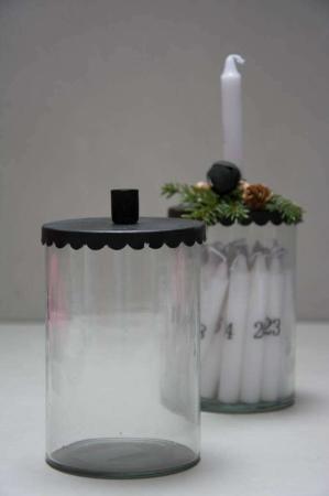 Kalenderlysestage - julestage - glas til kalenderlys
