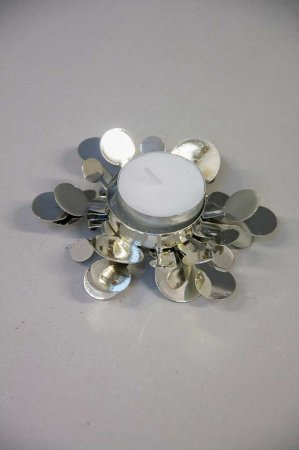 Fyrfadsstage i sølv. Fyrfadsstage snefnug. Sølv lysestage. Sølv fyrfadsstage.
