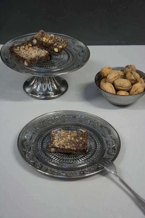Sølv tallerken, skål og opstats