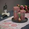 Økologisk bordløber fra Ekelund med tulipaner