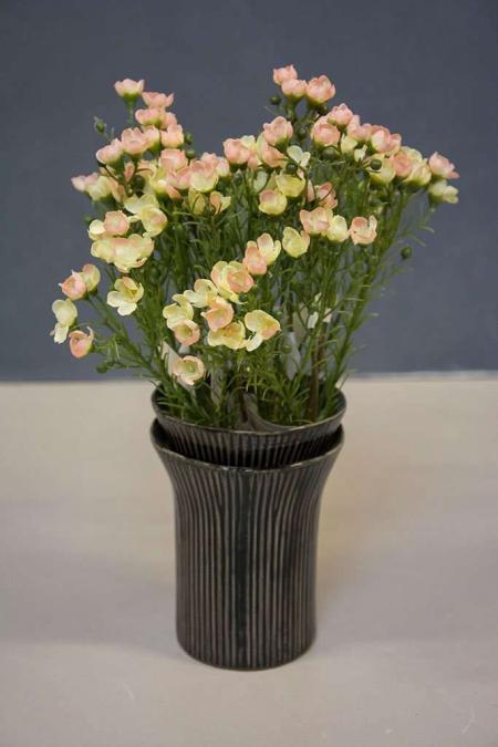 Sort dobbelt vase
