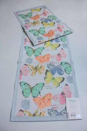 Stof bordløber - Fjärilar. Fra firmaet Ekelund