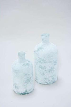 Vase i frostlook - Flaskeformet