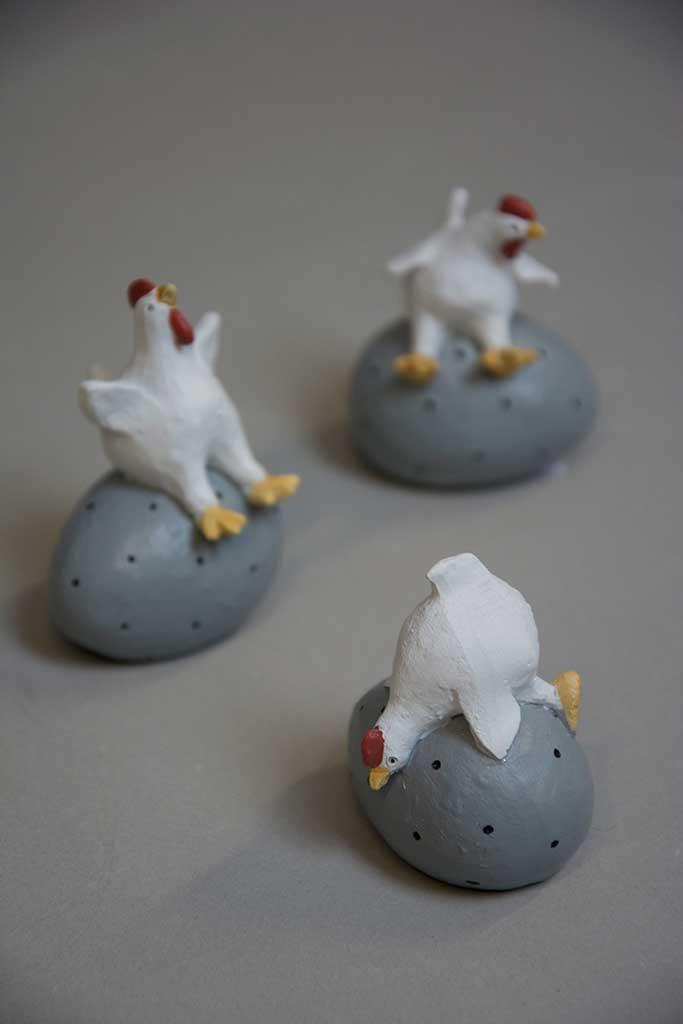 fisse og store haner