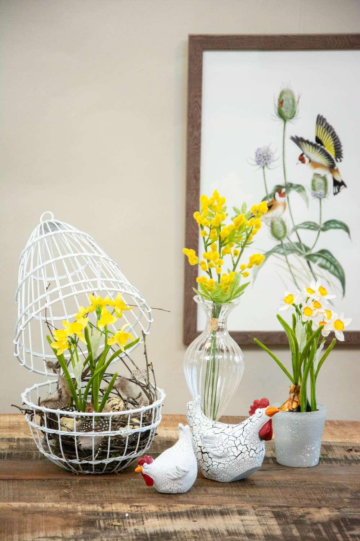 Påskedekoration med blomster - 2021
