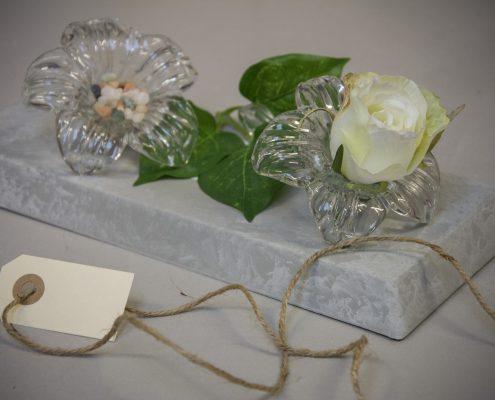 Værtindegave - liggende blomstervase