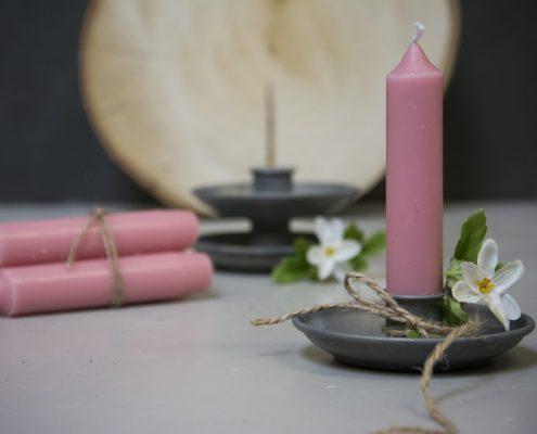 Værtindegave - små lysestager med bedelys