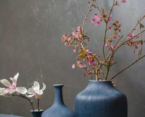 Blå keramik vaser fra Lindform