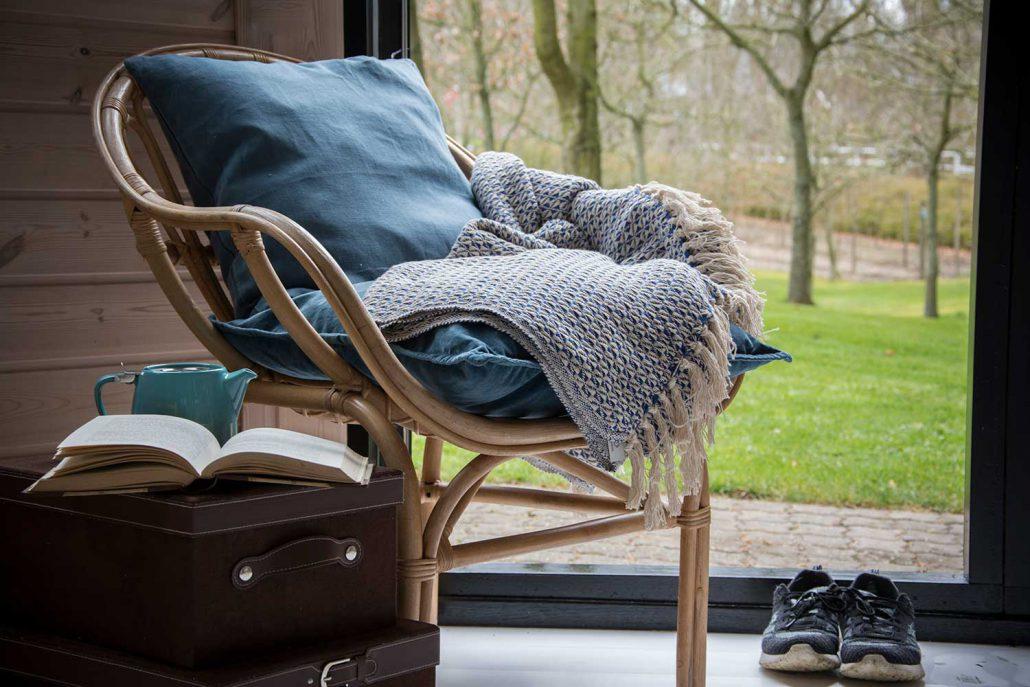 Blødt tæppe til sofaen eller terrassen