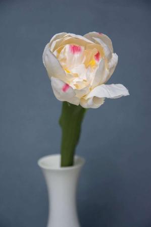 Falsk blomst - hvid tulipan
