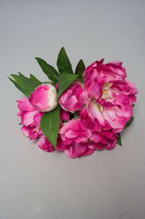 Kunstige blomster - buket af lyserøde pioner
