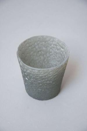 Gråt fyrfadsglas