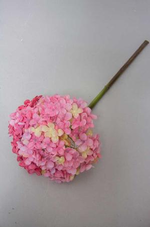 Hortensia lyserød, kunstig blomst hortensia