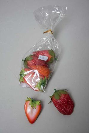 Kunstige jordbær, hele og halve kunstige jordbær