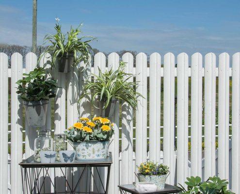 Terrasse indretning - udendørs hyggekrog