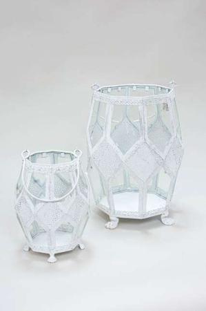 Hvid lanterne med løvefødder