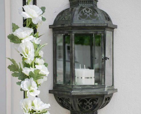Lanterne til væg med spejl