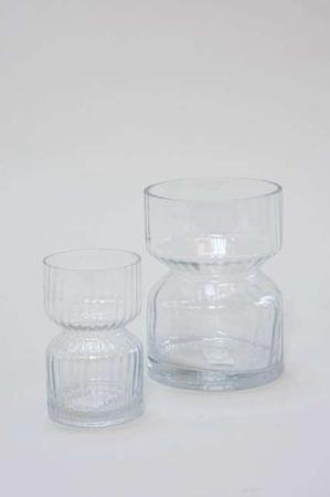 Buttede hyacint vaser i klar glas