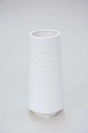 Høj slank vase i keramik - Vase i hvid keramik